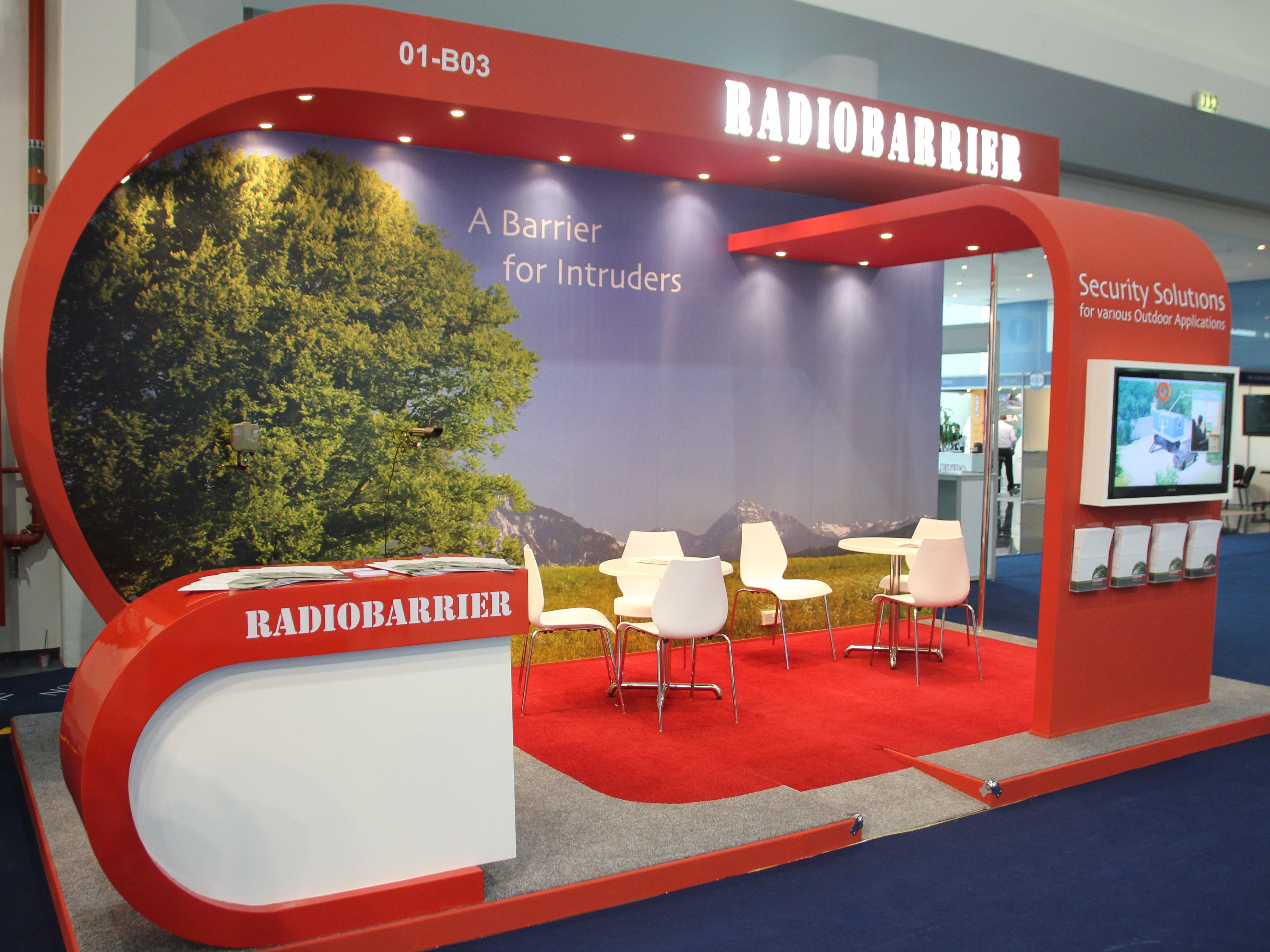 Radiobarrier stand at international defence exhibition for Hispano international decor abu dhabi