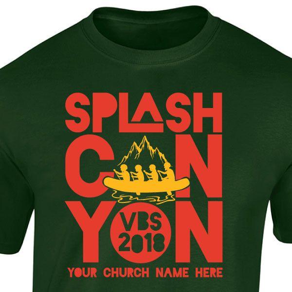 We love this VBS Custom T-Shirt Design for Splash Canyon VBS. A fun ...