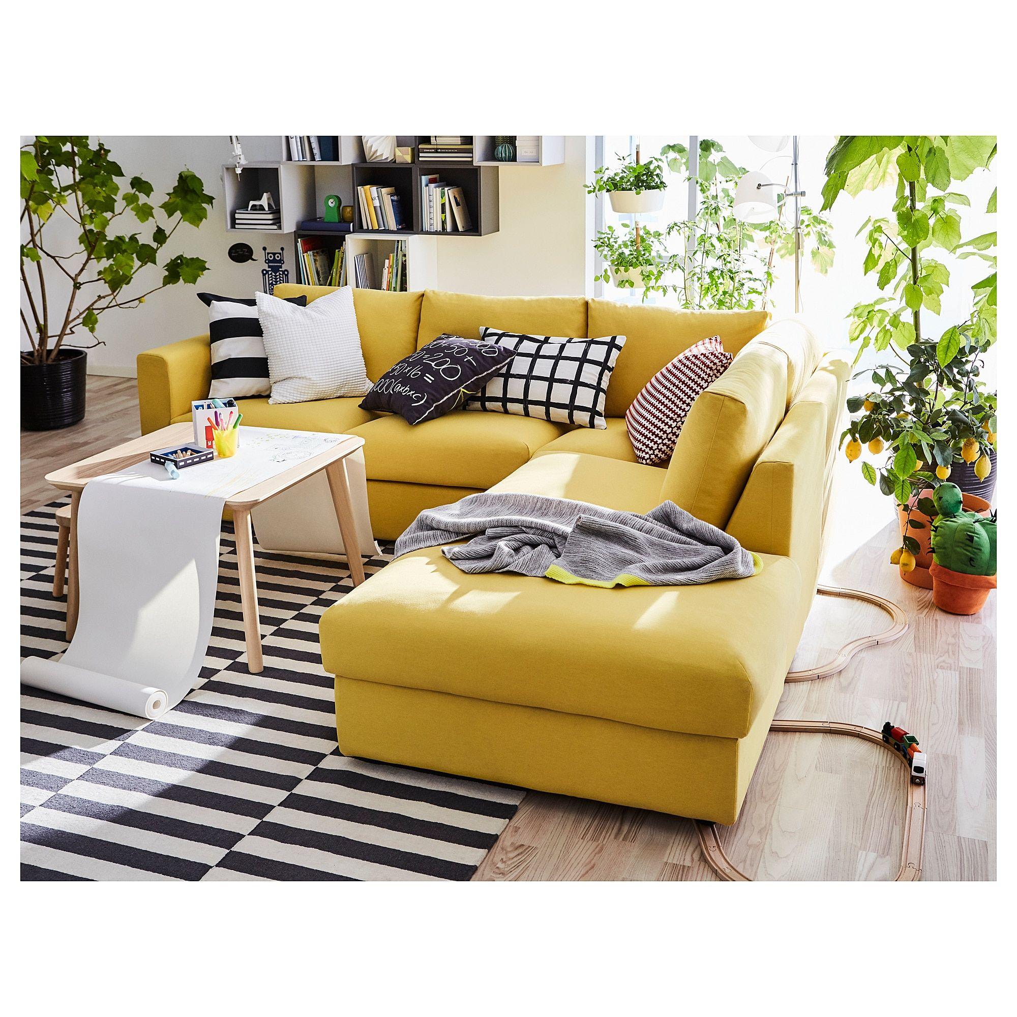 Furniture and Home Furnishings Living room sofa, Yellow