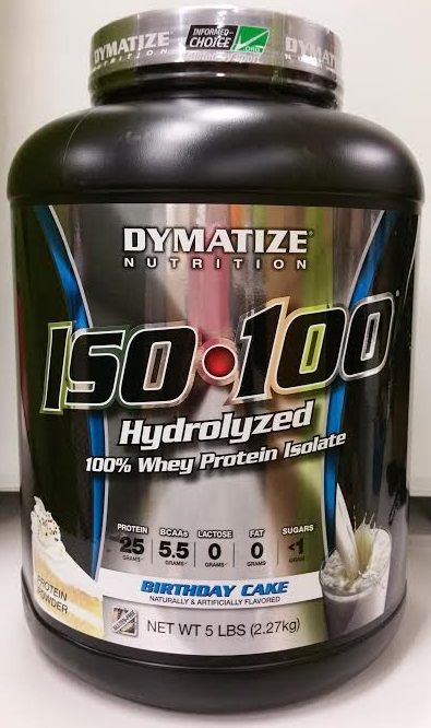 Birthday Cake ISO 100 Hydrolyzed Whey Protein Isolate Von DYMATIZE