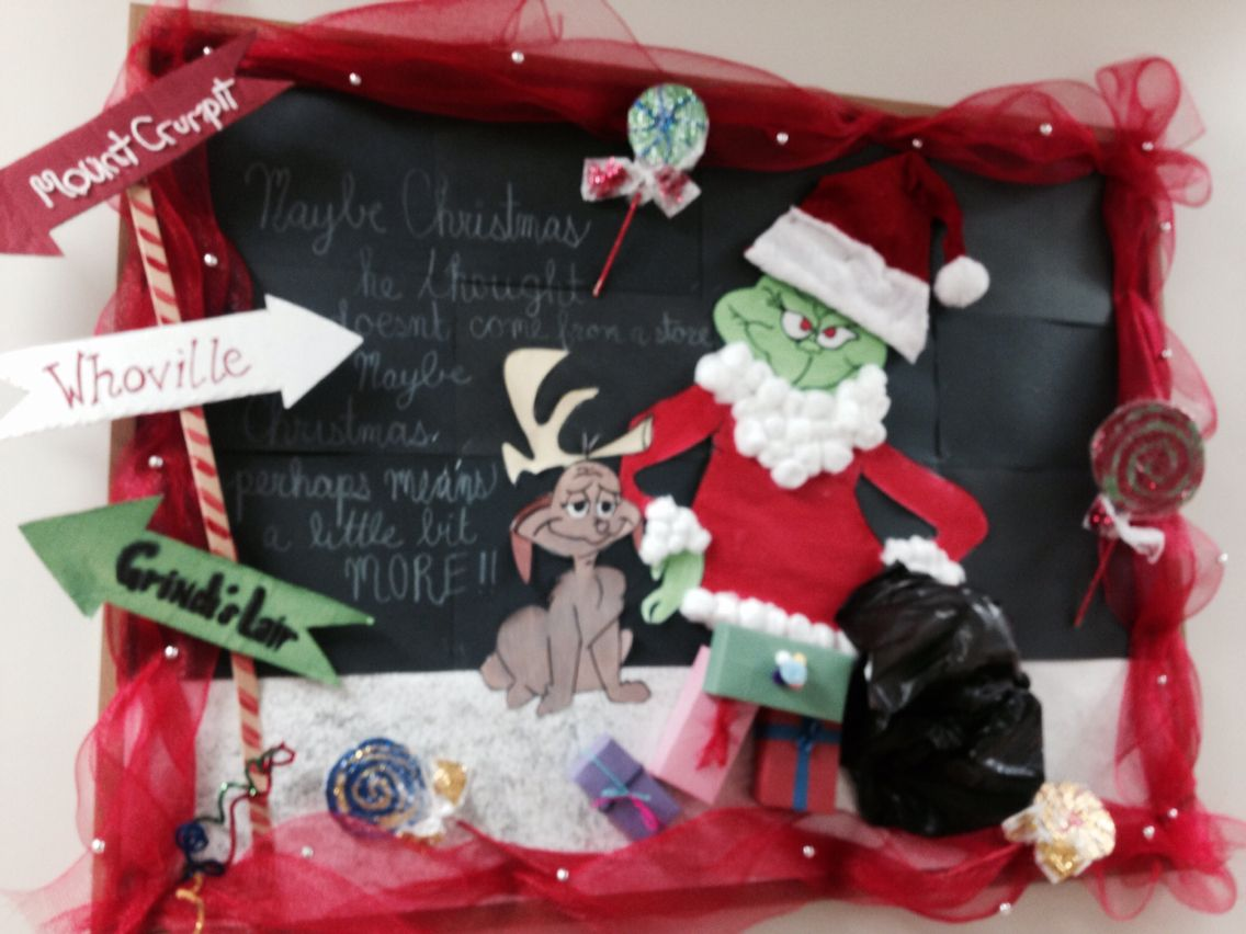 Christmas Time Bulletin Board The Grinch And Max