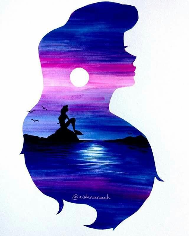 Arielle Disney Paintings Disney Art Watercolor Disney