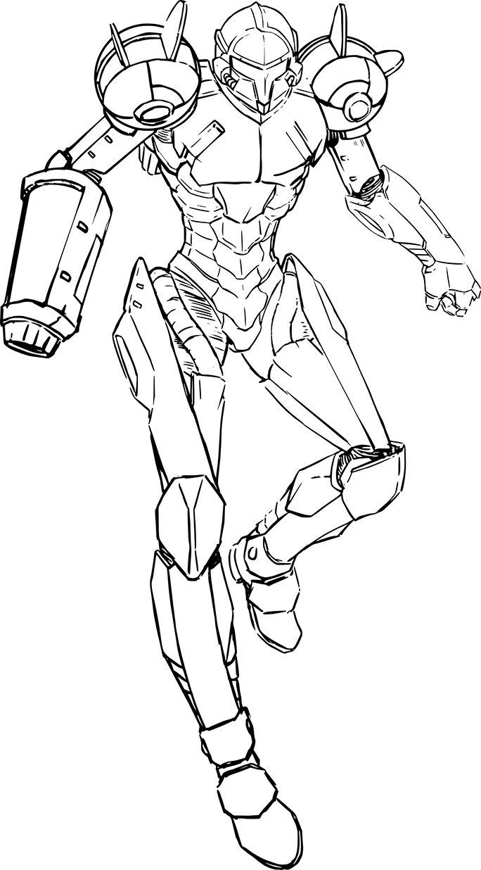 Metroid Coloring Pages    Metroid Teen Computer Graphic