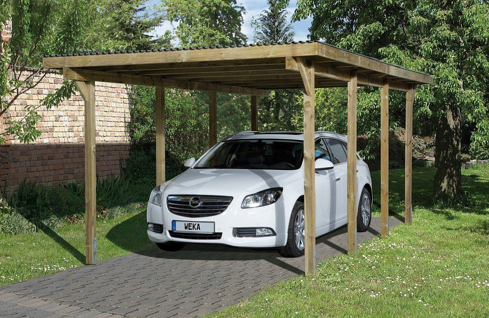 Weka Carport Primus Kdi Size 2 Amazon Co Uk Garden Outdoors Wooden Carports Carport Designs Carport Plans