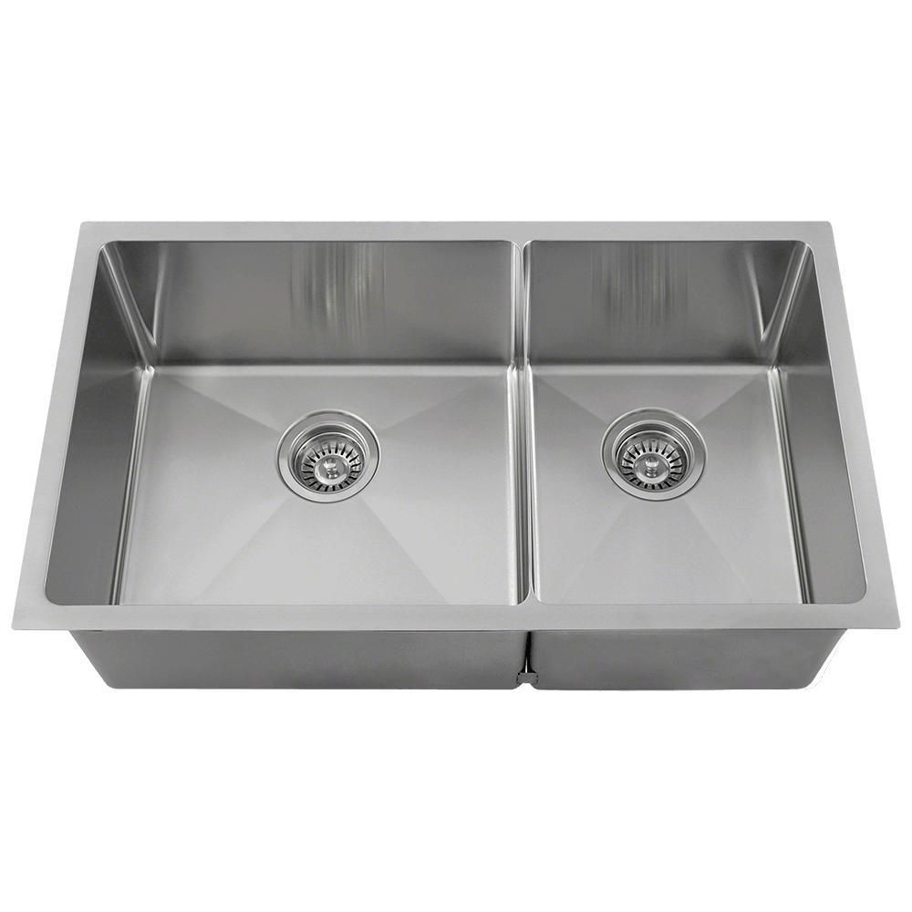 Mr Direct Undermount Stainless Steel 32 In Left Double Bowl