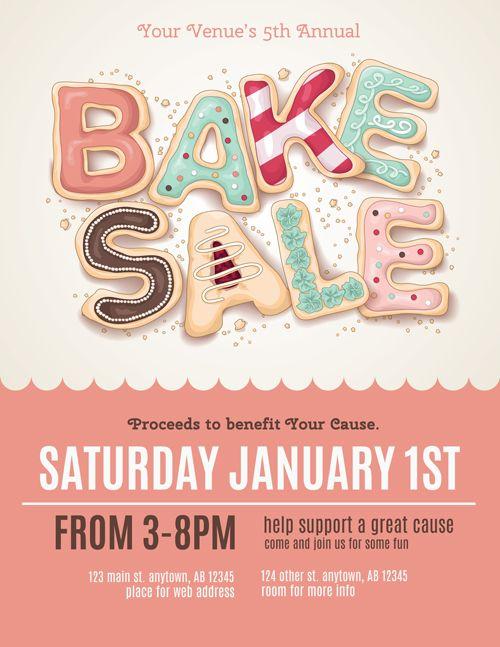 Vector Bake Sale Poster Design       Sale Poster