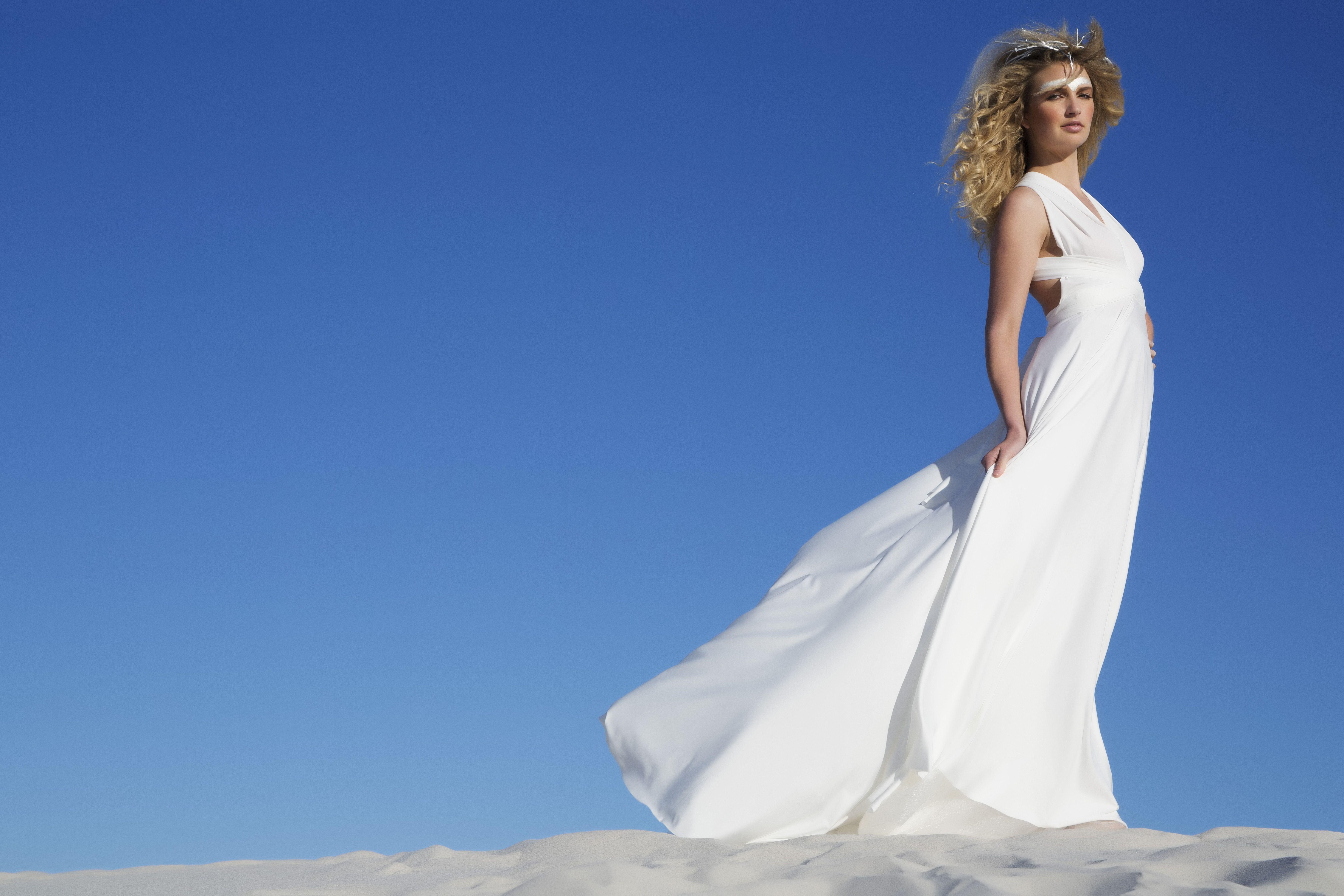 Beautiful Ivory White Infinity Bridesmaids Dress | Classic Black ...