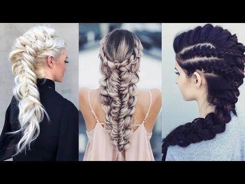 12 Easy Braids For Long Hair Tutorial Cute Braid Hairstyles Youtube Cool Braid Hairstyles Easy Braids Easy Braid Styles