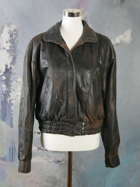 1980s Brown Leather Bomber Jacket Women Seuropean Etsy Leather Bomber Jacket Brown Leather Bomber Jacket Leather Bomber Jacket Women [ 3000 x 2253 Pixel ]