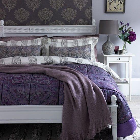 Purple Bedroom Ideas Purple Decor Ideas Purple Colour Scheme Paisley Bedroom Purple Home Decor Purple Bedrooms Heather colour bedroom ideas