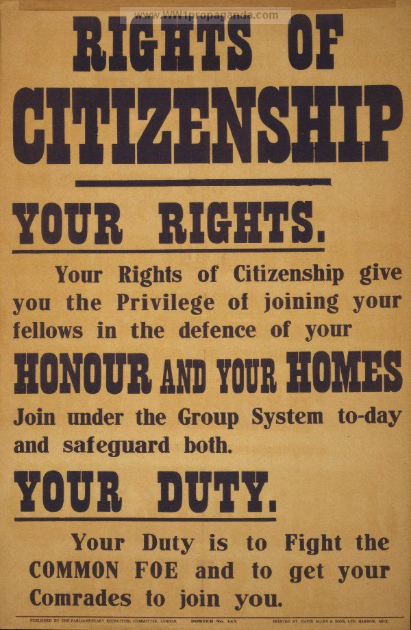 Examples Of Propaganda From Ww1 Rights Of Citizenship