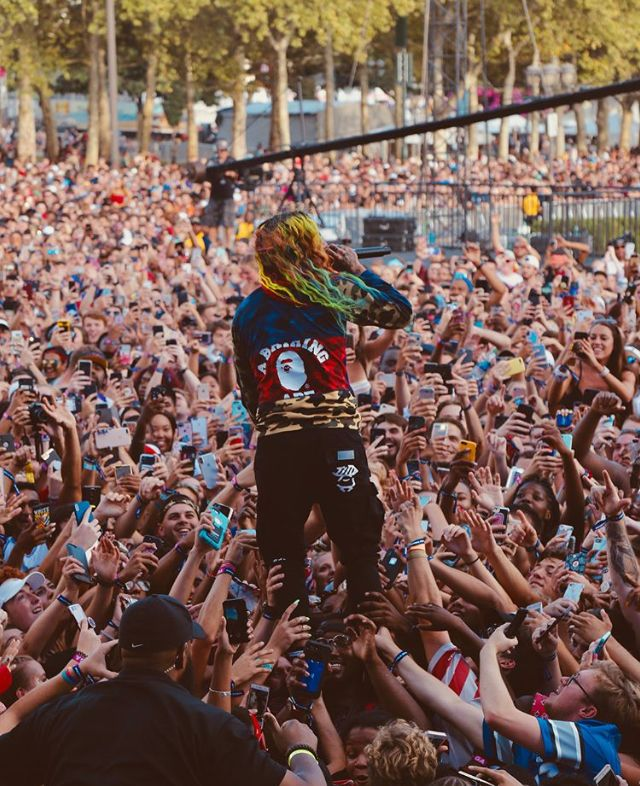 Pin by Lush on 6ix9ine | Rapper, Rap, Rainbow Hair