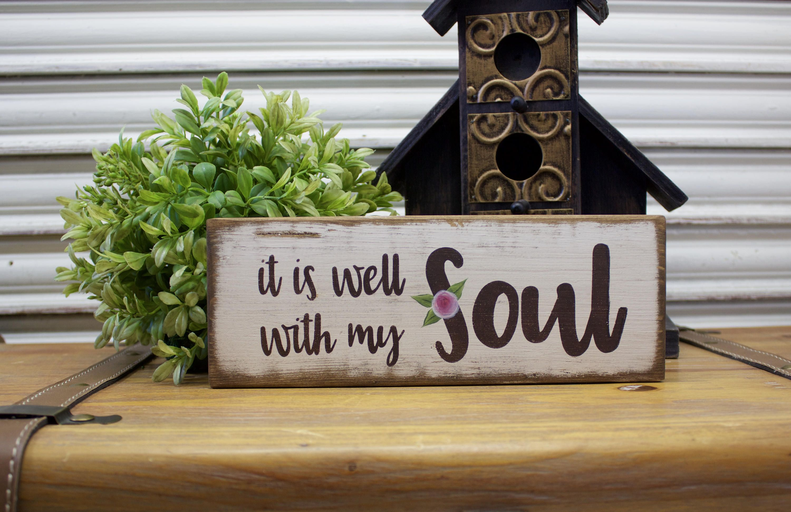 It Is Well With My Soul Wood Sign Christian Wall Art Scripture Wall Art Rustic Decor Pallet Sign Distress Wood Signs Scripture Wall Art Christian Wall Art