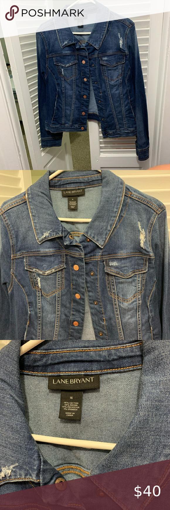Lane Bryant Destructed Denim Jacket Size 16 Destructed Denim Jacket Denim Jacket Destructed Denim [ 1740 x 580 Pixel ]