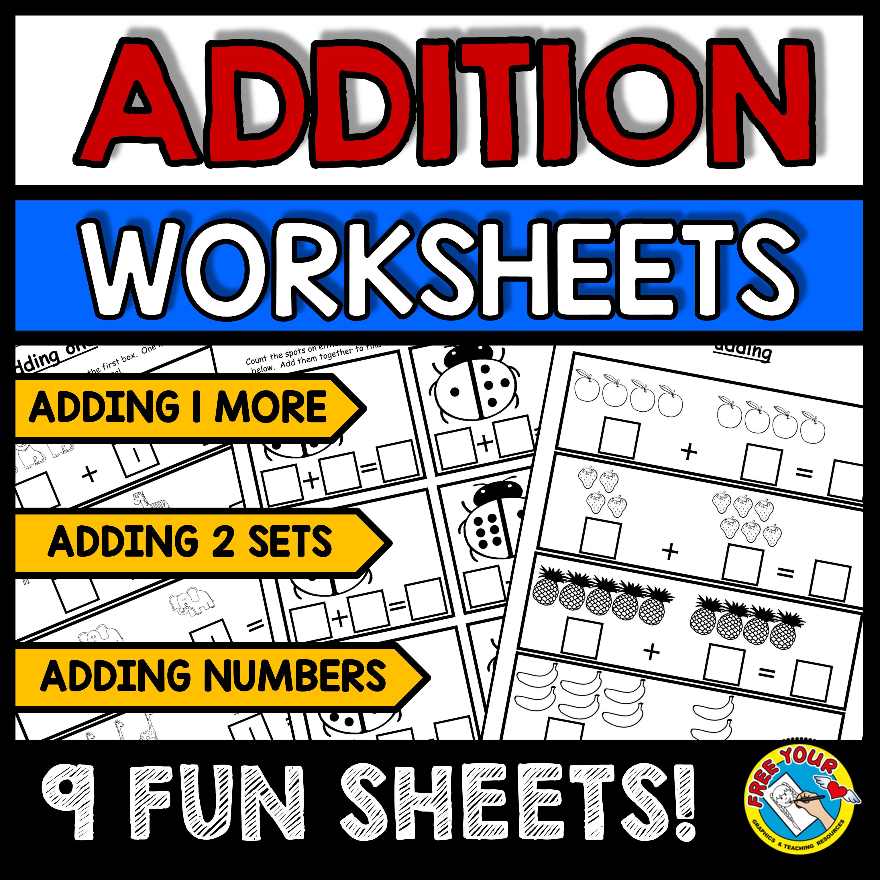 Halfoff Picture Addition Worksheets Kindergarten And