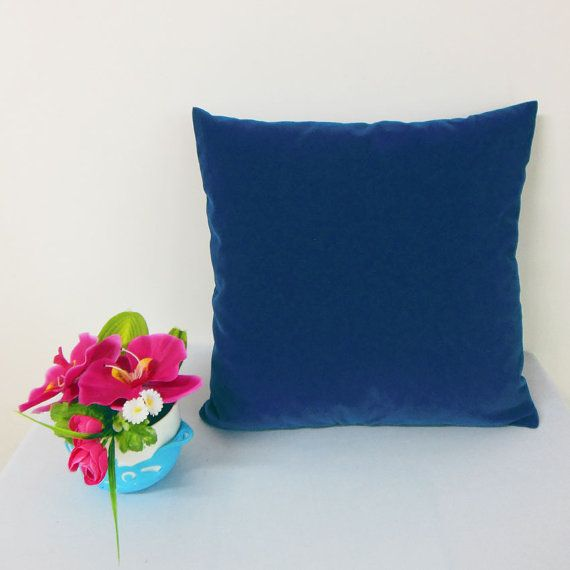 Made To Measure Cushion Cover Deep Cobalt Blu Short Pile Velvet Inches Sofa Covers