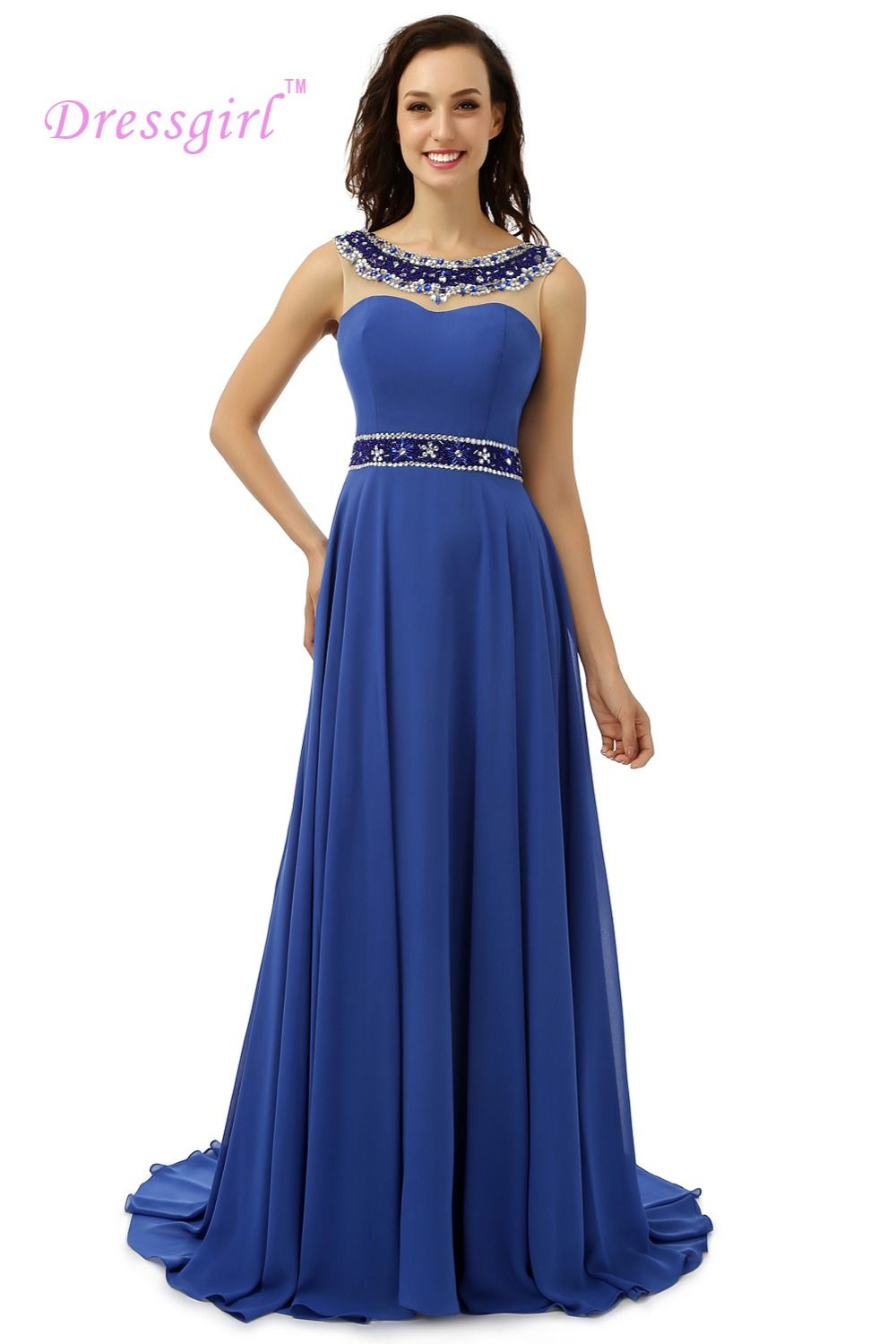 Click to buy ucuc backless real sample prom dresses aline scoop