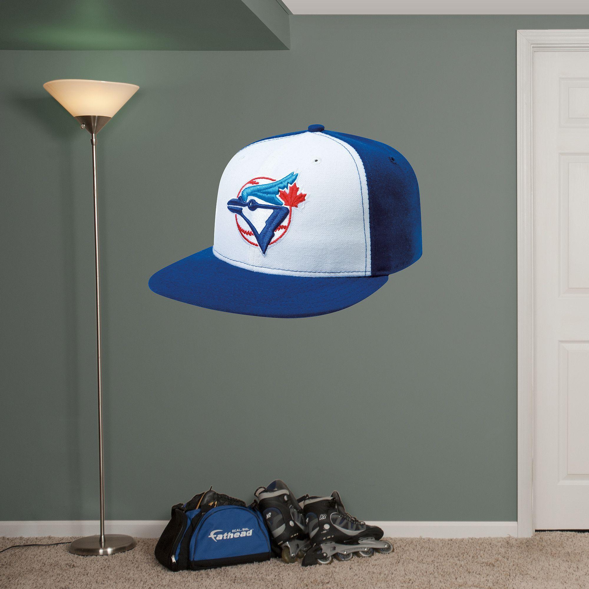 Toronto Blue Jays Alternate Cap REAL.BIG. Fathead Wall Graphic | Toronto Blue Jays Wall Decal | Sports Decor | Baseball Bedroom/Man Cave/Nursery & Toronto Blue Jays Alternate Cap REAL.BIG. Fathead Wall Graphic ...