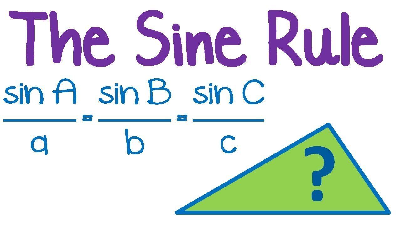 Maths Tutorial Trigonometry Law Of Sines Sine Rule Math Tutorials Law Of Sines High School Math Lessons