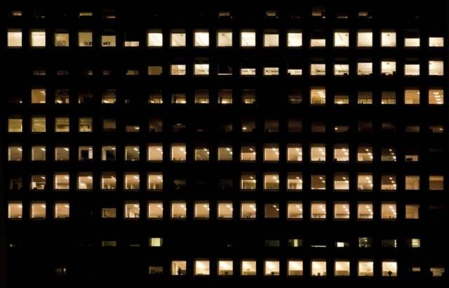 Highrisenight0048 Building Retouching Photoshop Night Window