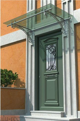 Techado de puerta de entrada para casas cl sicas puertas for Puertas de hierro para entrada principal