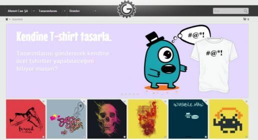 Kendi özel tişört, kanvas ve posterini tasarla Gramind.com!
