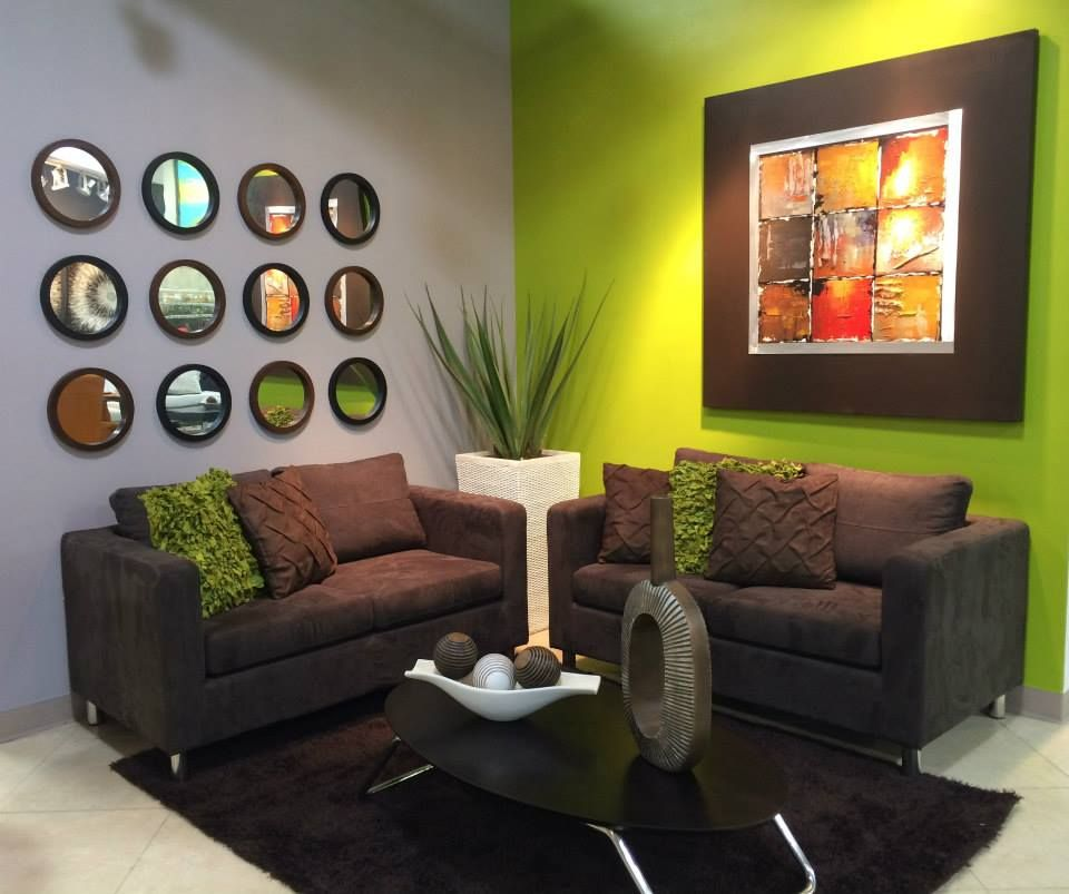 Simple green living room decor available at decora home pr for Simple green living room designs