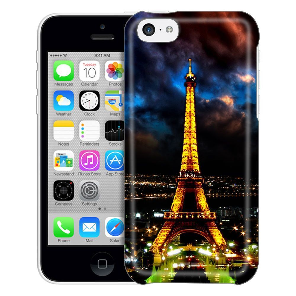 Apple iPhone 5C Night Time Paris Eiffel Tower Case
