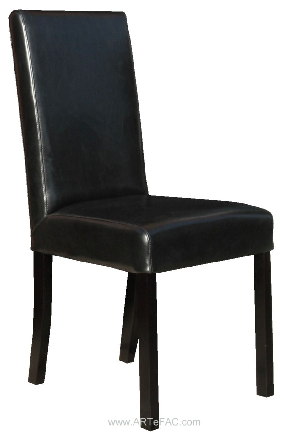 Drop Dead Gorgeous Black Leather Dining Room Chairs