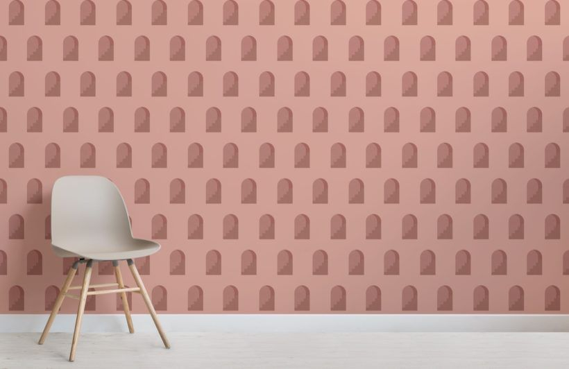Terracotta Architectural Design Wallpaper Mural | MuralsWallpaper