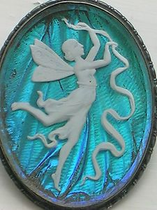 deco silver, butterfly wing and sulphide fairy brooch. Sold for £20.99