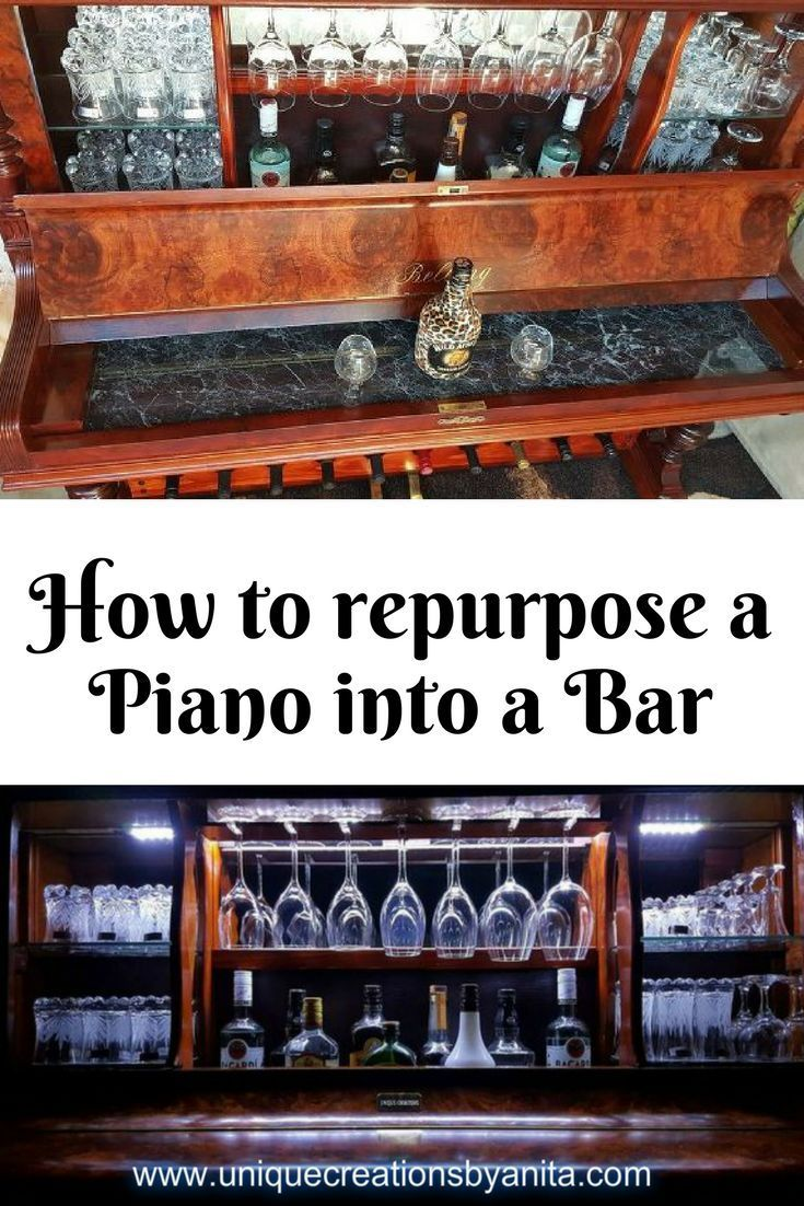 How to repurpose a piano into a bar complete with