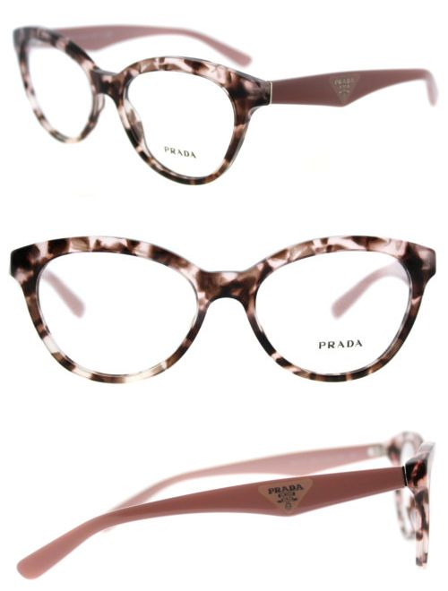 519c4b59cdf Fashion Eyewear Clear Glasses 179248  New Prada Pr 11Rv Roj1o1 Triangle  Pink Havana Plastic Cat-Eye Eyeglasses 52Mm -  BUY IT NOW ONLY   149.99 on  eBay!