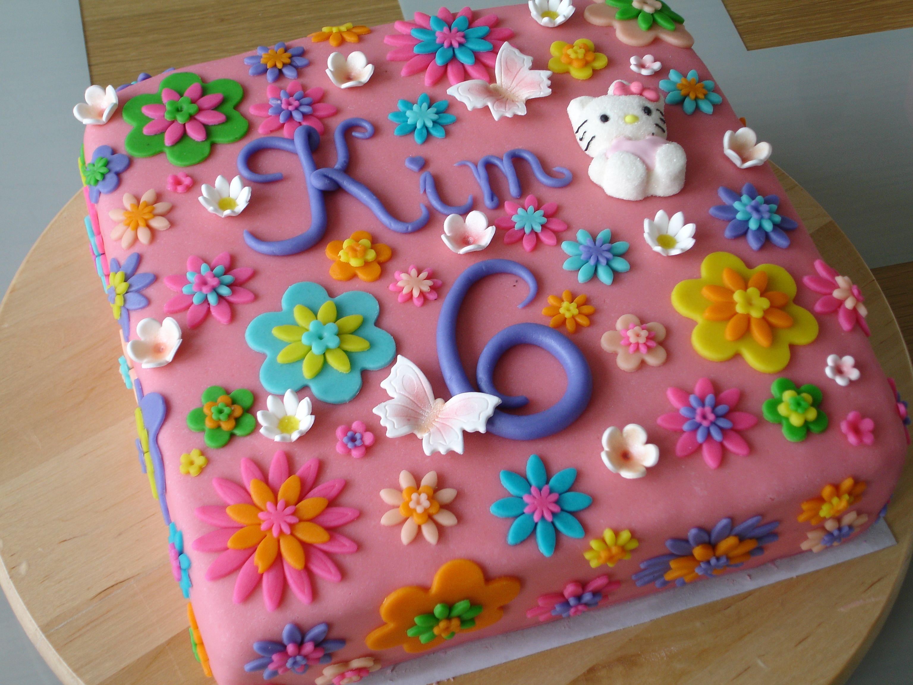 Awe Inspiring Flowers Birthday Cake With Images 6Th Birthday Cakes Birthday Funny Birthday Cards Online Barepcheapnameinfo