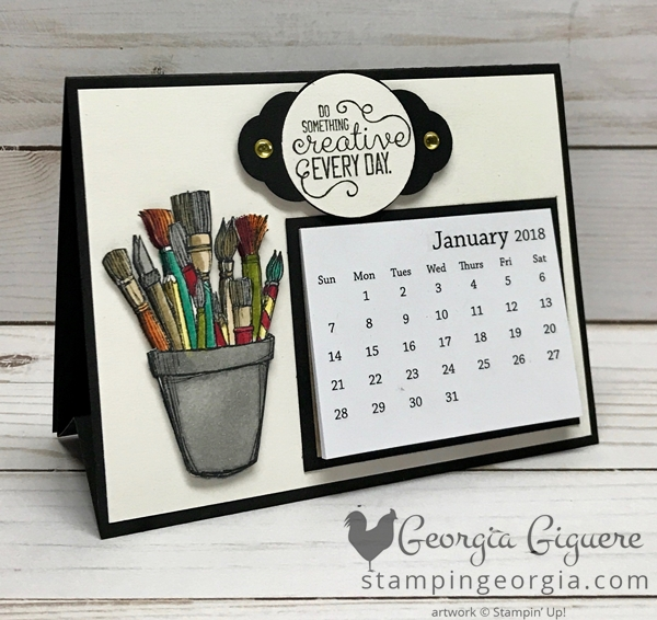 This Diy Crafting Forever Desk Calendar Is Not Only Adorable It S Super Easy To Make Besides That One Diy Desk Calendar Handmade Desk Calendar Diy Calender