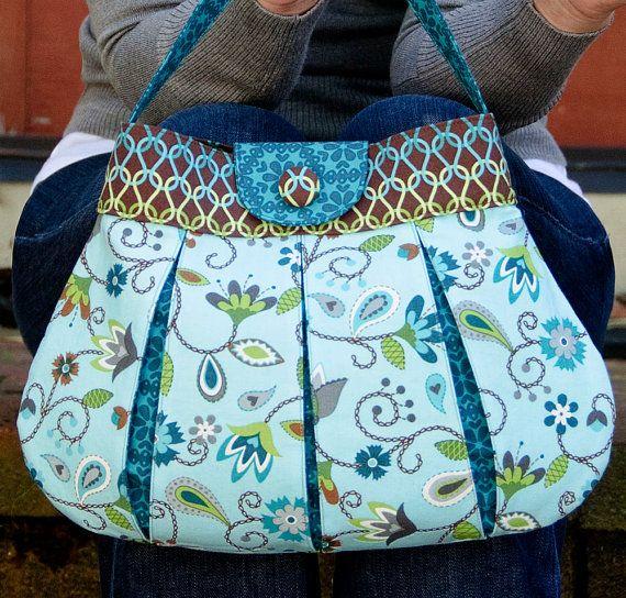 Caitlyn Handbag PDF Sewing Pattern | Bio-baumwolle, Jahrgang und ...