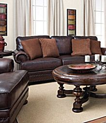 Dillards Brown Leather Furniture   Love This Look! Dark Leather  Would Love  To