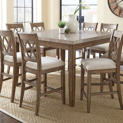 One Allium Way Franco Counter Height Dining Table Counter Height Dining Table Counter Height Dining Sets Dining Table In Kitchen