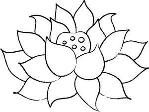 Lotus Flower Clipart Image Outline Of A Lotus Flower