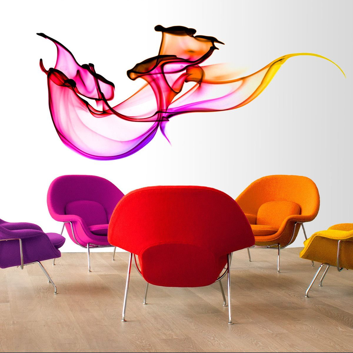 #PRO | #Salle_d_attente #Waiting_room | #Decoration_interieur #Interior_design  [Swirling Dyes Wall Decal]