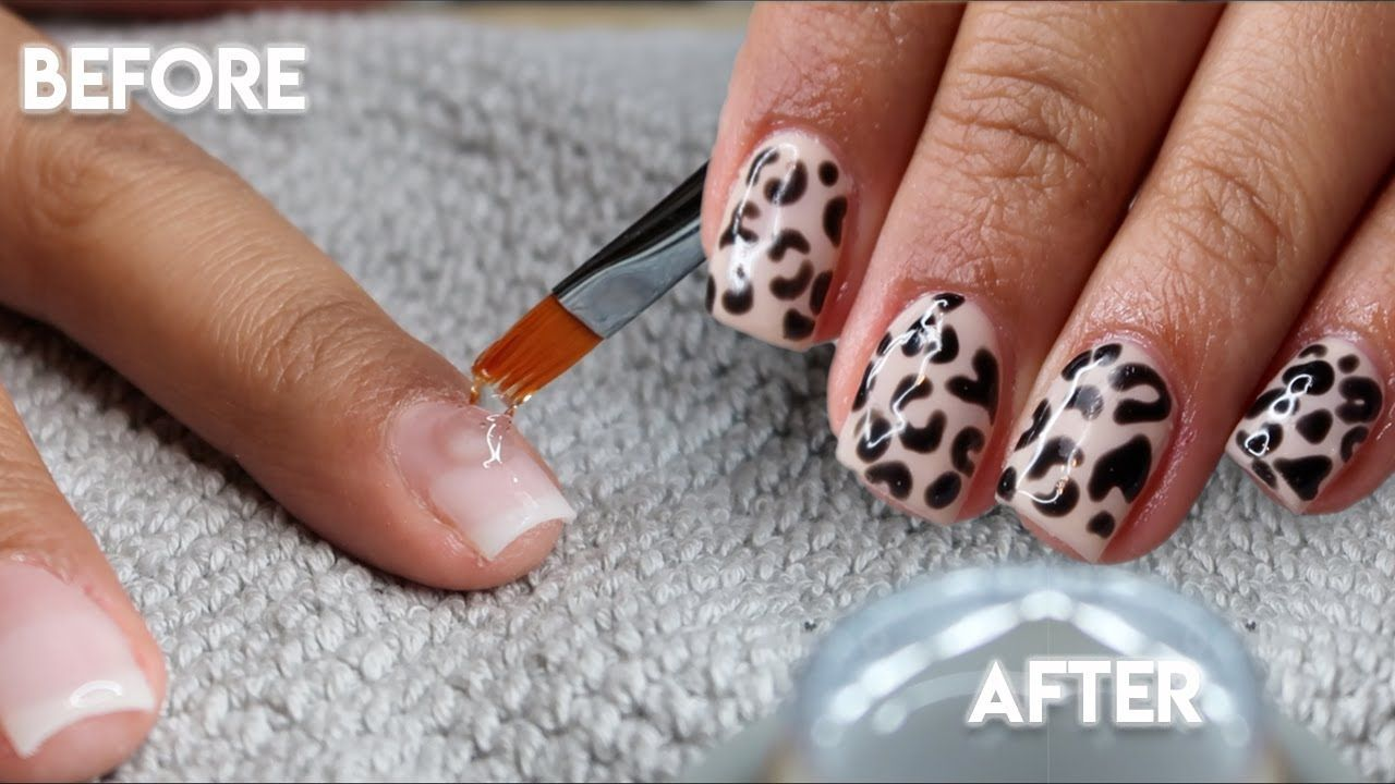 How to do your own builder gel nails at home short nails