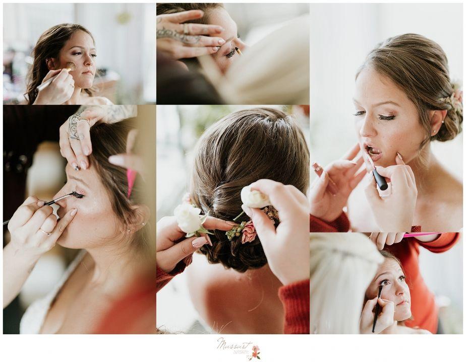 Bride Getting Ready For Warwick Ri Wedding Day Photographed By Wedding Photographers Massart Photography Photographer Wedding Portraits Wedding Photographers