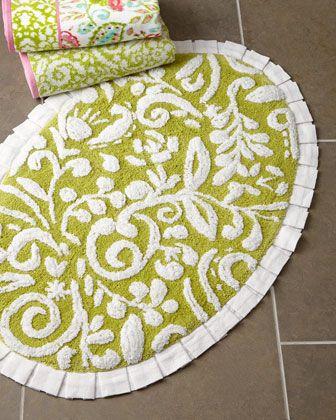 Dena Floral Jacquard Bath Rug By Dena Home At Neiman Marcus - Floral bathroom rugs for bathroom decorating ideas