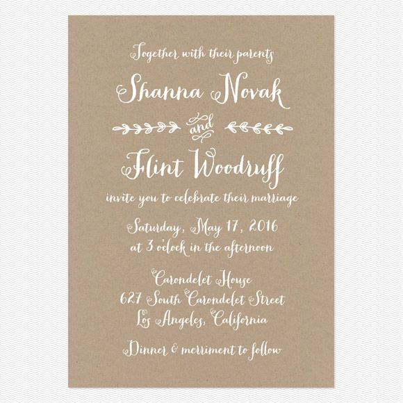 Wording For Wedding Invitations Rustic Country Invitation 95 00 From Love Vs Design