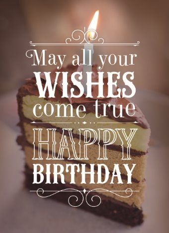 May All Your Wishes Come True Happy Birthday Hallmark HallmarkNL Verjaardag Wenskaart