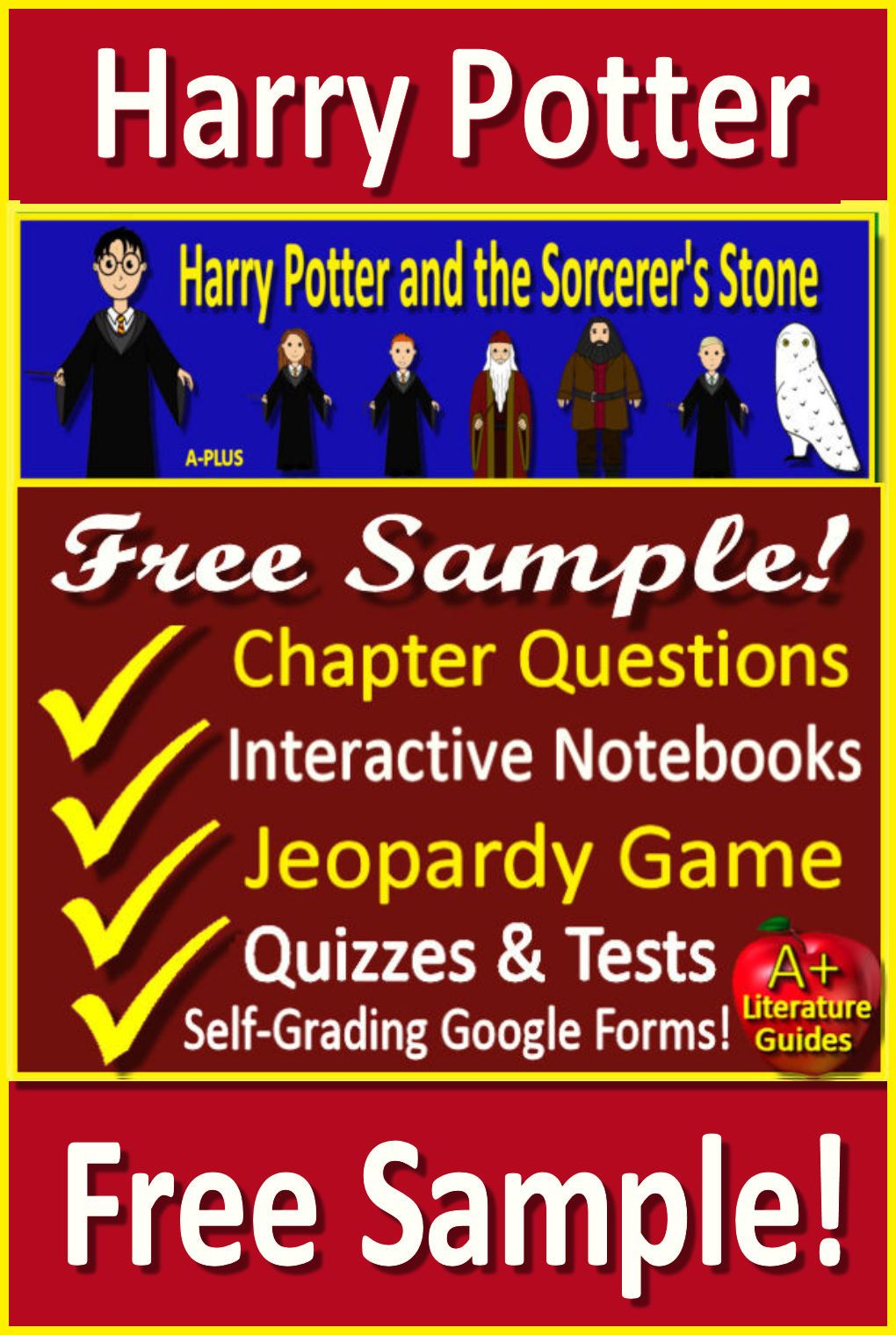 Free Sample Harry Potter And The Sorcerer S Stone Novel Studies Creative Lesson Plans Novel Guides