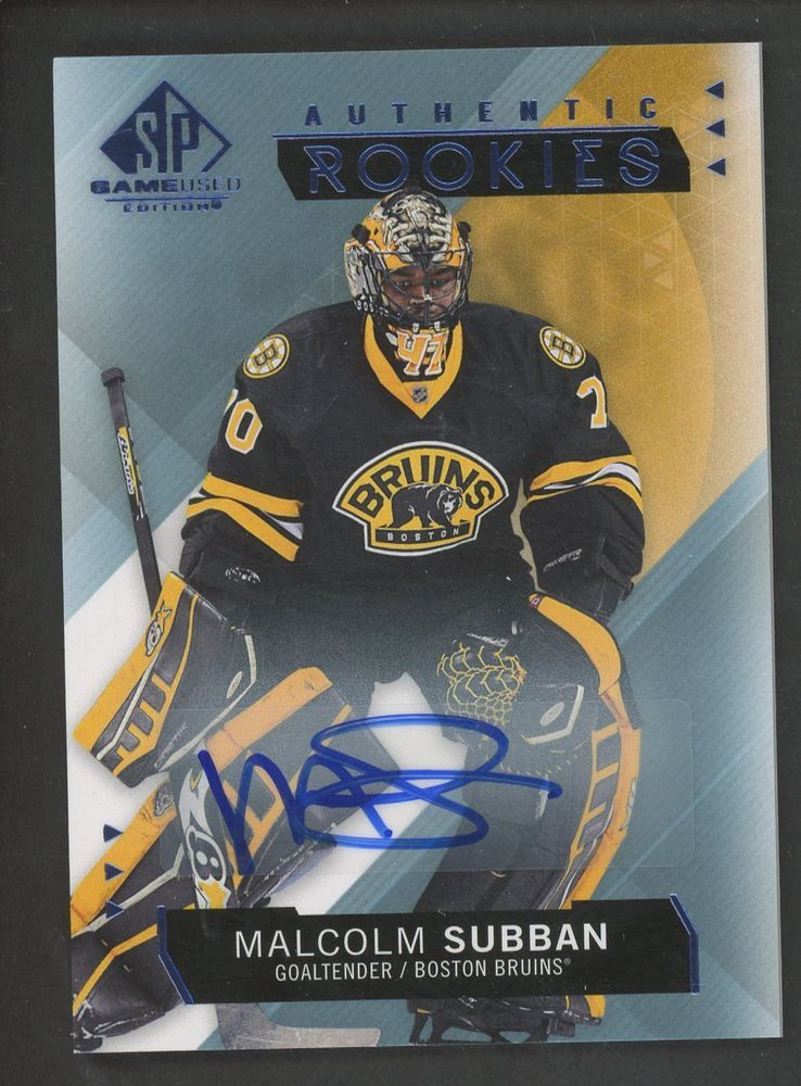 2015 16 Sp Game Used Malcolm Subban Bruins Rc Rookie Auto Hockey