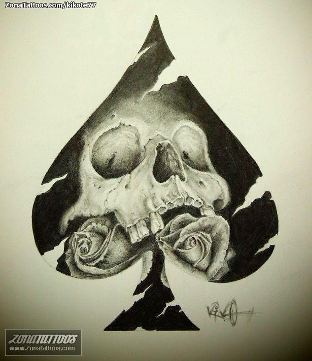 Diseñoplantilla Tatuaje Calaveras Plantillas Pinterest