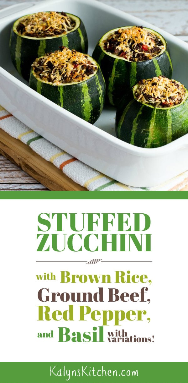 Stuffed Zucchini With Ground Beef Kalyn S Kitchen Recipe Summer Squash Recipes Zucchini Organic Recipes