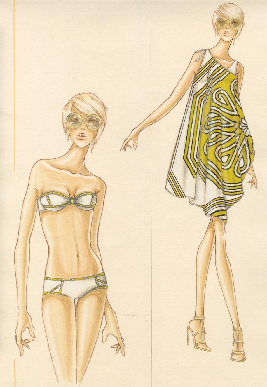 Design & Illustration by Stanley Do for Trina Turk   Otis Fashion ...